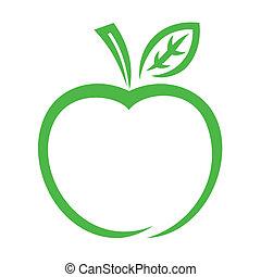 Apfel-Ikone