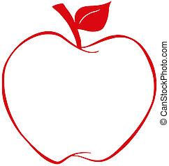 Apfel mit rotem Rand