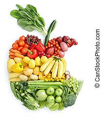 Apfelbiss: gesundes Essen