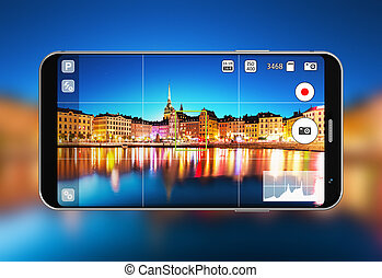app, fotoapperat, smartphone