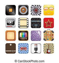 app, retro, heiligenbilder