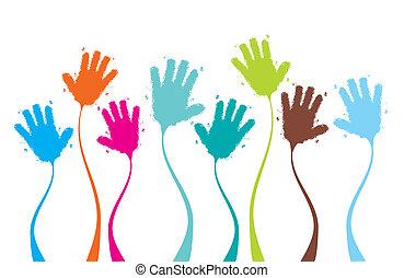 Applaus, Hände klatschen lustig, Hintergrund für Ihr Design.