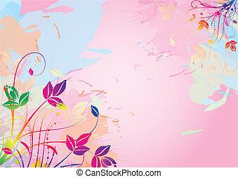aquarell, blumen-, hintergrund
