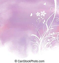 aquarell, hintergrund, blumen-