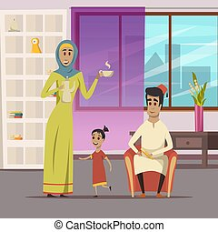 Arabische Familie.