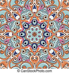 Arabisches Schmuckstück, nahtloses Muster für dein Design