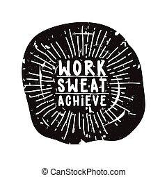 arbeit, erreichen, schweißperlen