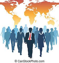 arbeit, geschäftsmenschen, global, menschliche , mannschaft, ressourcen