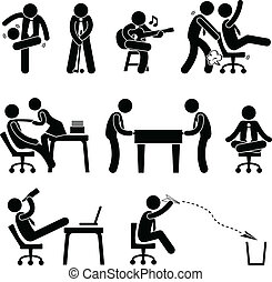 Arbeiterbüro-Spaß