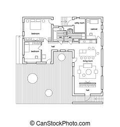 Architektenhausplan.