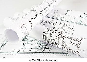 architektonisch, projekt, teil