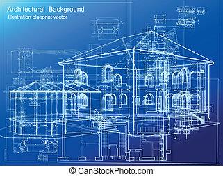 architektonischer Hintergrund. Vector