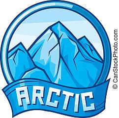 arktisches Design (arktisches Label)