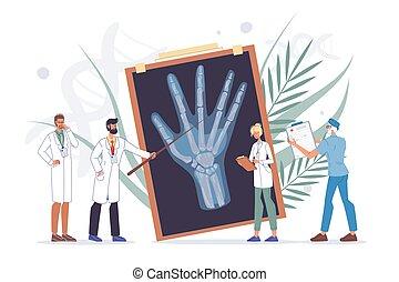 arm, diagnose, behandlung, oder, handgelenk, trauma, hand