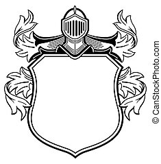 arme, knight's, mantel