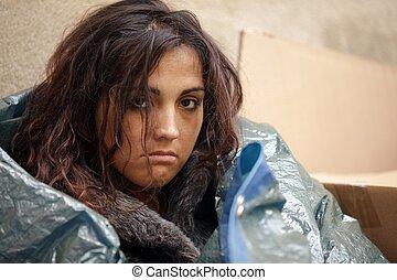 Armes Frauenporträt