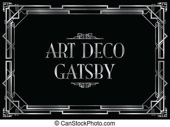 Art-Deco-Einladung.