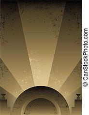 Art deco futuristischer Hintergrunddesign