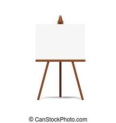 Art Easel und Leerzeichen Raum bereit für Ihre Werbung und Präsentationen Vektor.