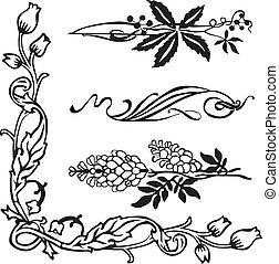 Art Nouveau Ecken und Divider