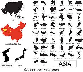 asiatische Ländervektoren
