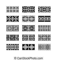 Asiatische Ornamente.