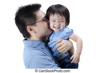 Asiatischer Vater