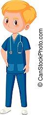 assistent, medizin, mann
