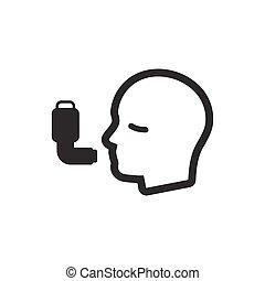 Asthma-Ikone.