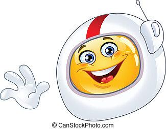 Astronauten-Emoticon