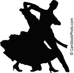 athlet, ehepaar, tanzt