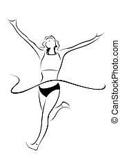 athlet, skizze