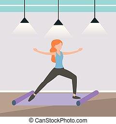 Athletin trainiert ihren Fitness-Körper.