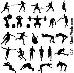 Athletische Silhouette-Sammlung