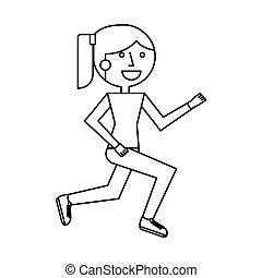 Athletisches Charaktersymbol.