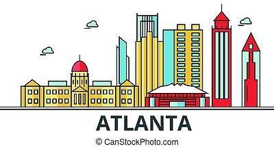 Atlanta City Skyline