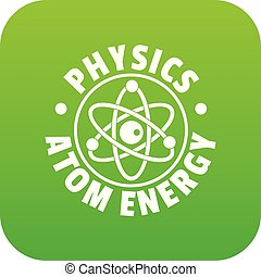 Atomenergie Icon Green Vektor.