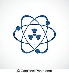 Atomenergie-Vektor-Icon.