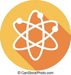 Atomsymbol flache Ikone.