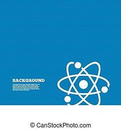Atomzeichen-Ikone. Atomteilsymbol.