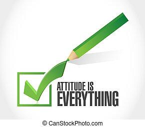 Attitude ist alles Check-Marken-Konzept.