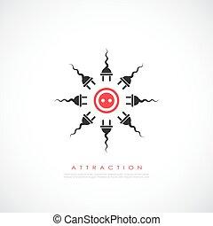 Attraktions-Vektor-Icon.