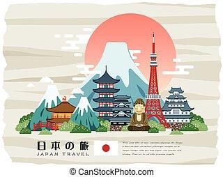 Attraktives Japan-Reiseposter.