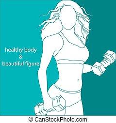 Attraktives Mädchen athletisch.