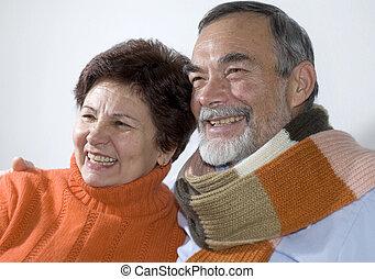Attraktives Senior Paar