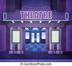Außerhalb des Theaters
