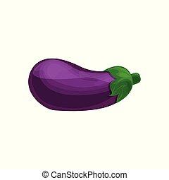 Auberginen-Gemüse-Cartoon-Vektorgrafik.