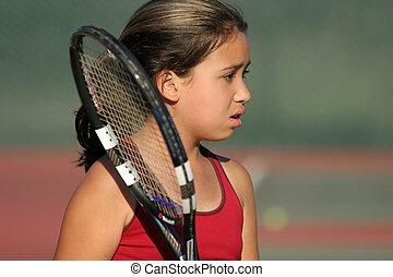 Aufgerüsteter Tennisspieler