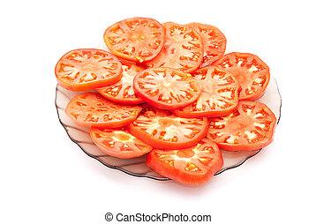 aufgeschnitten, tomaten