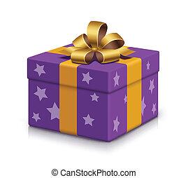 aufgewickelt, kasten, geschenk